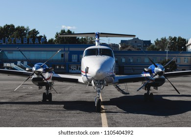Russia, the airport of Syktyvkar. April 22, 2017 Hawker Beechcraft 350i King Air (B300)