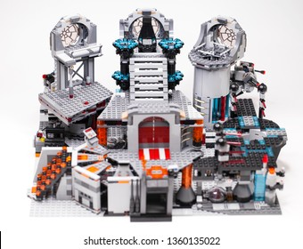 RUSSIA, April 05, 2019. Constructor homemade LEGO Star Wars 75093 Death Star - The last battle without minifigures