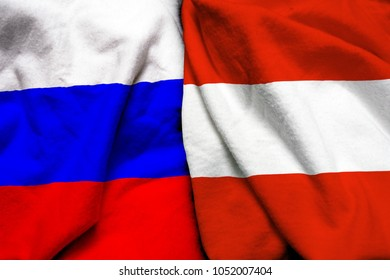 Russia and Austria flag together