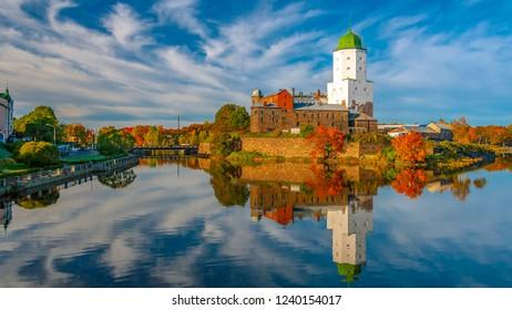Russia. Autumn. Vyborg. Vyborg Castle.