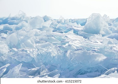 Russia, Baikal lake, ice hummocks