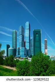 Russia. Business center with skyscrapers - Moscow City
