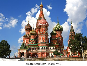 Russia. Cathedral of St. Basil Cathedral on the red square in Moscow.
