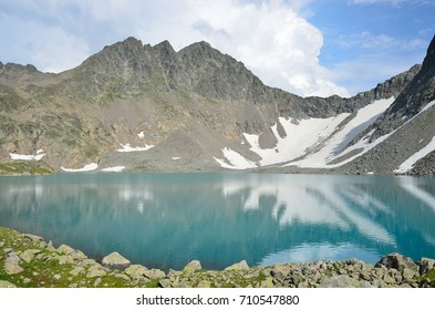 Russia, the Caucasus, the mountainous lake of Bush in the summer