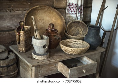 Russia, Cheboksary, 30,03,2017 House museum, historical Russian hut in which was born Chapaev
