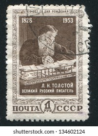 RUSSIA - CIRCA 1953: stamp printed by Russia, shows Leo Tolstoy, circa 1953