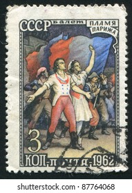 RUSSIA - CIRCA 1962: stamp printed by Russia, shows Ballet Paris Flame, circa 1962