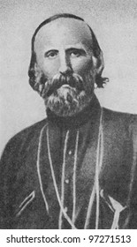 RUSSIA - CIRCA 2008: Illustration from the textbook Modern History, published in the Russia shows portrait of the Italian revolutionary Giuseppe Garibaldi (1807-1882), circa 2008