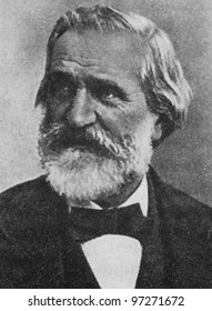 RUSSIA - CIRCA 2008: Illustration from the textbook Modern History, published in the Russia shows portrait of the Italian composer Giuseppe Verdi (1813-1901), circa 2008