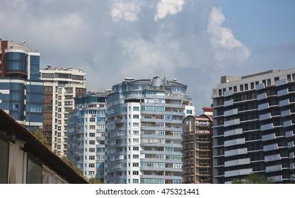 Russia, city of Sochi, summer, construction July 25, 2016