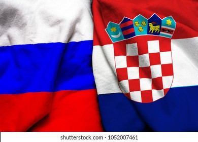 Russia and Croatia flag together
