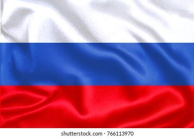 Russia Fabric Flag