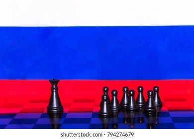 Russia Flag Elections Chess as a policy