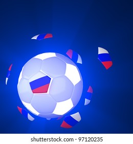 Russia flag on 3d Football for Euro 2012 Group A