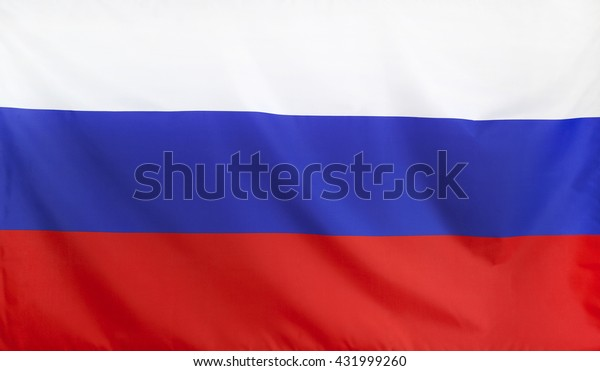 Russia Flag real fabric seamless close up