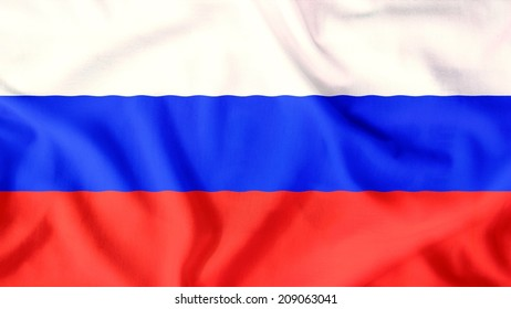 russia flag waving colorful