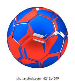 russia isolated soccer football ball. 3d render