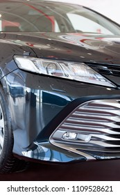 Russia, Izhevsk - April 21, 2018:Showroom Toyota. New Toyota Camry. Front view.