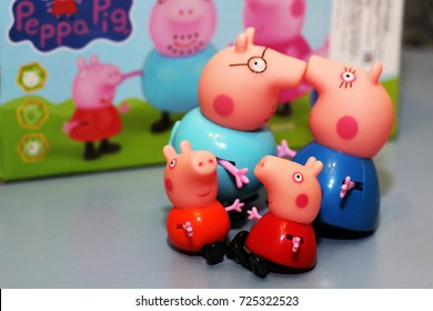 Russia, Izhevsk September 30, 2017 Toy Peppa pigs