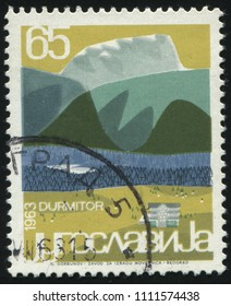RUSSIA KALININGRAD, 12 NOVEMBER 2016: stamp printed by Yugoslavia, shows landscape of Durmitor, circa 1963