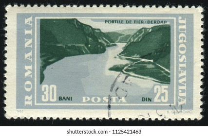 RUSSIA KALININGRAD, 12 NOVEMBER 2016: stamp printed by Yugoslavia, shows mountain, circa 1965