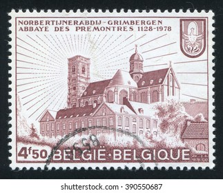 RUSSIA KALININGRAD, 20 OCTOBER 2015: stamp printed by Belgium, shows Grimbergen Abbey, circa 1978