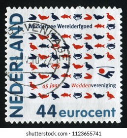 RUSSIA KALININGRAD, 21 JUNE 2017: stamp printed by Netherlands shows animals fauna, circa 2010