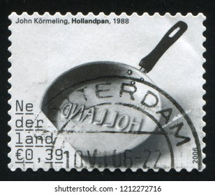 RUSSIA KALININGRAD, 21 JUNE 2017: stamp printed by Netherlands shows steel pan, circa 2006