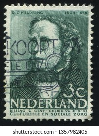 RUSSIA KALININGRAD, 21 JUNE 2017: stamp printed by Netherlands shows Heldring, circa 1963
