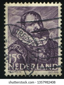 RUSSIA KALININGRAD, 21 JUNE 2017: stamp printed by Netherlands shows merry christmas holiday, circa 1943