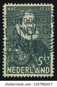 RUSSIA KALININGRAD, 21 JUNE 2017: stamp printed by Netherlands shows William, circa 1931