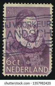 RUSSIA KALININGRAD, 21 JUNE 2017: stamp printed by Netherlands shows emperor William, circa 1931