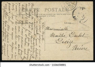 RUSSIA KALININGRAD, 30 MAY 2017: postcard printed by France shows old postcard, circa 1910
