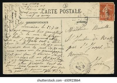RUSSIA KALININGRAD, 30 MAY 2017: postcard printed by France shows old postcard, circa 1910