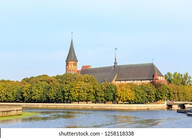 Russia, Kaliningrad. The central part of the city of Kaliningrad, the Kaliningrad Cathedral on the island of Kant