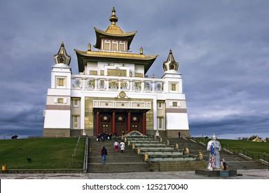 Russia, Kalmykia, the city of Elista, the Golden Abode of Buddha Shakyamuni.