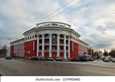 Russia. Karelia. Petrozavodsk. Hotel Severnaya in Petrozavodsk. November 15, 2017