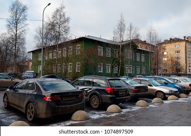 Russia. Karelia. Petrozavodsk. Street Petrozavodsk in the afternoon. November 15, 2017