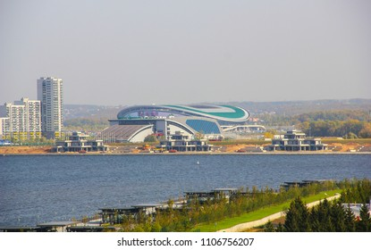 Russia, Kazan - June 3, 2018: Kazan Arena Stadium. Venue 2018 FIFA World Cup Russia