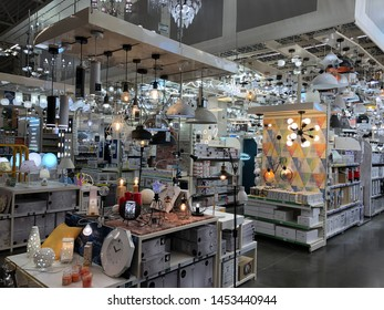 Russia, Kazan May 28, 2019: Leroy Merlin Samara Store in sunny day. Leroy Merlin is a French home-improvement and gardening retailer