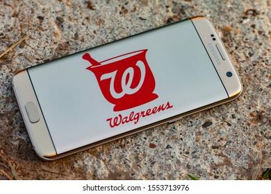 Russia, Kazan Sep 2 2019: Screenshot of the mobile app Walgreens from Walgreen Co..