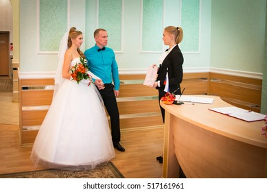 Russia, Kirov - Wedding and marriage registration at the registry office in Kirov city in 2016