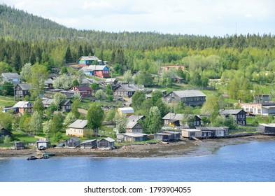 Russia. Kola Peninsula, Tersky coast, old pomeranian village of Umba