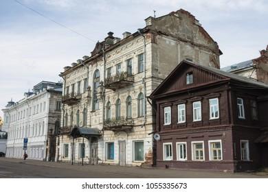 Russia, Kostroma, 13, June, 2015: A walk through the streets of  Kostroma