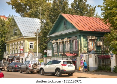 Russia, Kostroma, June 25, 2016. The Golden Ring of Russia, the ancient city of Kostroma, wooden architecture