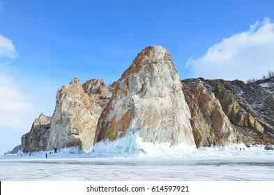 "Russia, lake Baikal. Mountains ""Three brothers"" on Olkhon island"