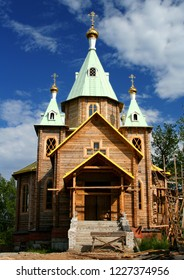 Russia. Leningrad region. Tolmachevo. Church of the Transfiguration. 2006 year