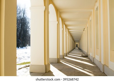 Russia. Lomonosov. February 27, 2015. Hall of the Menshikov Palace