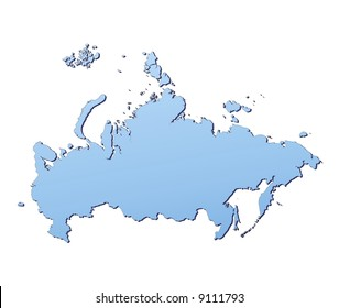 Russia map filled with light blue gradient. High resolution. Mercator projection.