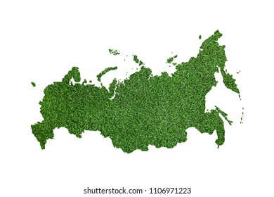 Russia map.  green on a white background.